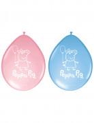 8 Ballons latex Peppa Pig™