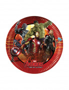 8 Petites assiettes en carton Avengers l'Ère d'Ultron™ 19.5 cm