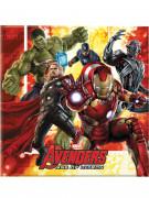 20 Serviettes en papier Avengers L'Ère d'Ultron™ 33 cm