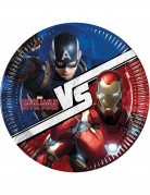 8 Assiettes en carton Captain America Civil War™ 23 cm