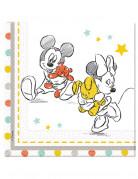 20 Serviettes en papier Baby Shower Disney baby™ 33 x 33 cm