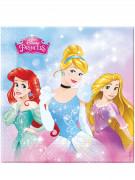 20 Serviettes en papier Princesses Disney™ 33 x 33 cm