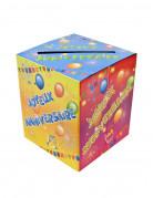Urne en carton anniversaire Fiesta 20 x 23 cm
