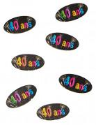 80 Confettis de table en papier 40 ans feux d'artifice 4 x 2 cm