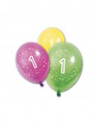 8 Ballons en latex anniversaire 1 an 30 cm