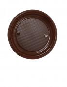 30 assiettes en plastique chocolat 22 cm