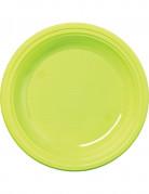 30 Assiettes en plastique vert anis 22 cm
