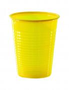 50 gobelets en plastique jaune 20 cl