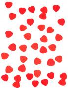 Confettis petit cœur en papier rouge 50g