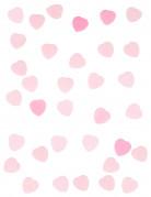 Confettis petit cœur en papier rose 50 g