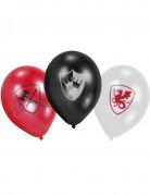 6 Ballons latex Chevalier noir 23 cm