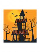 16 Petites serviettes en papier Halloween Manoir Hanté 25 cm