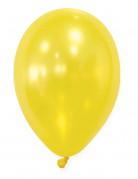 50 Ballons jaunes métallisés 30 cm