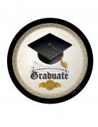 8 Assiettes en carton Congratulations Graduate 23 cm