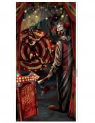 Décoration de porte clown Halloween 85 x 165 cm
