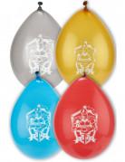 8 Ballons en latex chevaliers