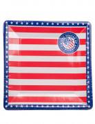 8 Assiettes en carton USA 24.5 cm
