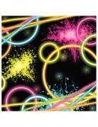 16 Petites serviettes en papier Glow Party 16 cm