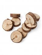 10 Mini rondins de bois naturel 5 cm