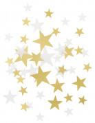 Confettis étoiles or et blanc
