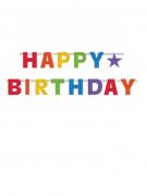 Guirlande articulée Happy Birthday multicolore