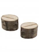 2 Marque-places rondins de bois 3,5 x 2,5 cm