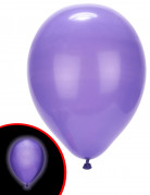 5 Ballons LED violets Illooms ®