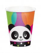 8 Gobelets en carton Panda Party 266 ml