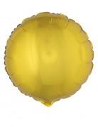 Ballon aluminium rond doré 45 cm