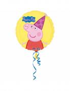 Ballon aluminium Peppa Pig™ jaune 43 cm