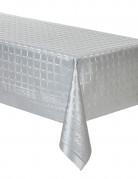 Nappe en rouleau papier damassé argent 6 mètres