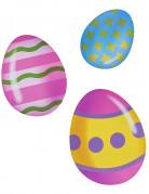6 Décorations cartonnées œufs de pâques 16, 14 et 11 cm