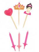 Bougies d'anniversaire Princesse