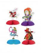 4 Mini centres de table Alice au pays imaginaire 13 x 9 cm