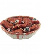 Décoration saladier rempli de langues et yeux Halloween