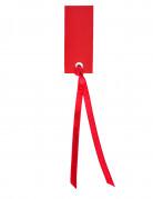 12 Marque-places rectangle avec ruban rouge 3 x 7 cm