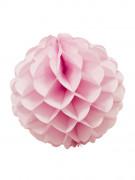 Boule en papier alvéolé rose 25 cm