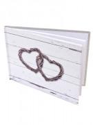 Petit livre d'or Mariage romantique 21.5 x 15.5 cm