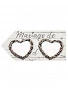 Flèche en papier mariage romantique