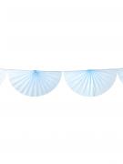 Guirlande éventail bleu ciel
