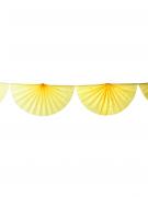 Guirlande éventail jaune 3m