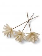 3 Fleurs en bois 39 cm