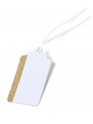 10 Etiquettes blanc et or