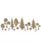 12 Décorations de table Forêt