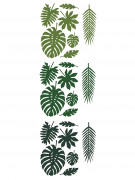 21 Feuilles tropicales en papier Hawaï 40 cm