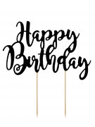 Décoration pour gâteau Happy birthday 23 x 20 cm