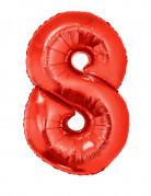 Ballon aluminium géant chiffre 8 rouge 102 cm