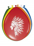 8 ballons Indien multicolores 30 cm