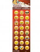 24 Stickers autocollants émoticônes Emoji™ 2 cm