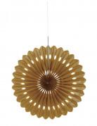 Rosace éventail décoratif doré